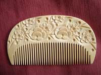 HORI-Carved boxwood comb-
