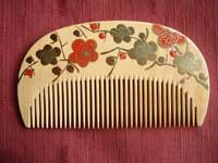 MAKIE-Painted boxwood comb-