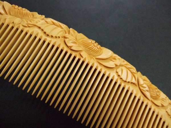 The boxwood comb does not create static helping make all hair look beautiful.