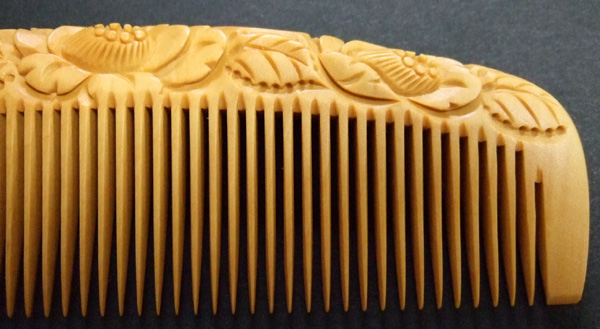 The boxwood comb is good for not only the hair but also the scalp caring.