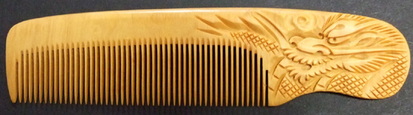 Carved Boxwood comb -Dragon (Ryu)-