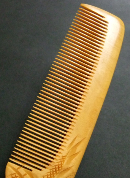 Carved Boxwood comb -Dragon-